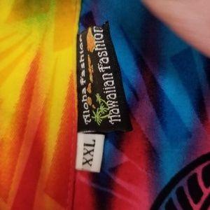 Aloha Fashion Shirts - XXL Aloha Fashion Hawaiian Rainbow Seaturtle Shirt
